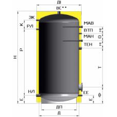 Бак накопитель (тепло аккумулятор) ATMOSFERA серия Эмаль